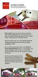 Richtiges Verhalten im Notfall - Wilnsdorf