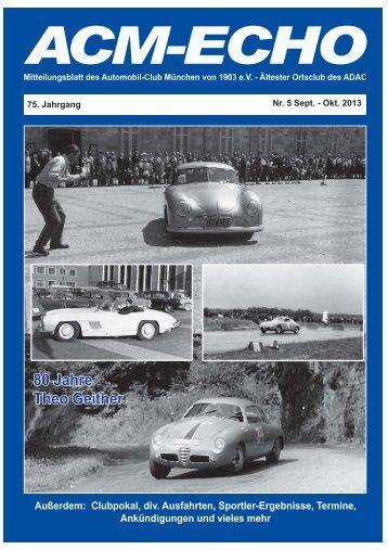 echo-2013-05 - ACM Automobilclub München von 1903 e. V.