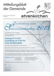Einladung zum eniorennachmittag - Gemeinde Ehrenkirchen
