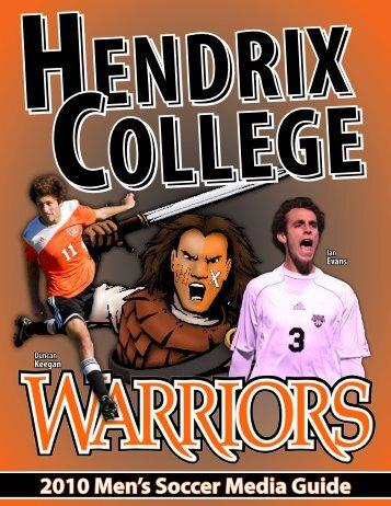 2010 Men's Soccer Media Guide - Hendrix College