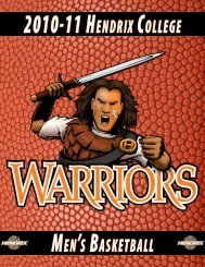 Men's BasketBall - Hendrix College