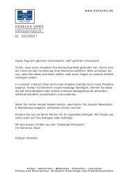 Bestellformular zum ausdrucken - Henecka GmbH