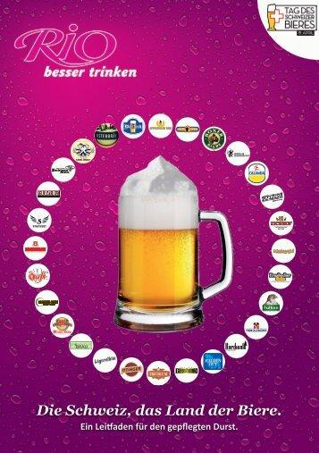 Die Schweiz, das Land der Biere. - Rio Getränke