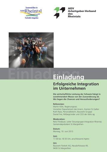 Einladungskarte Integratio.pdf - AGV Rheintal
