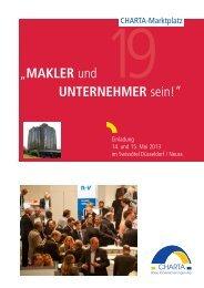 """""""MAKLER und UNTERNEHMER sein!"""" - charta.de"""