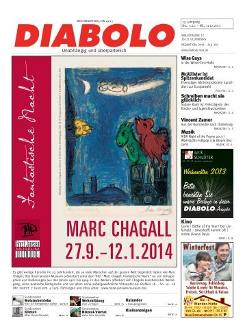 MARC CHAGALL 27.9.–12.1.2014 - DIABOLO / Mox