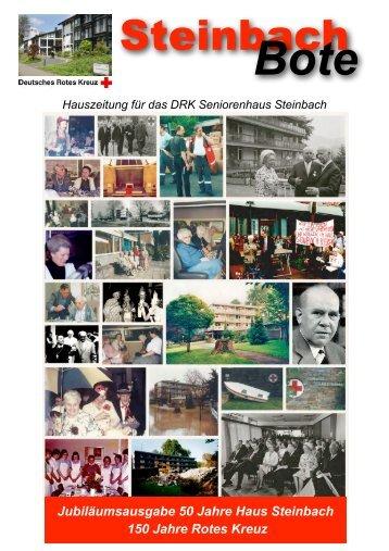 Jubiläumsausgabe 50 Jahre Haus Steinbach - DRK-Seniorenhaus ...