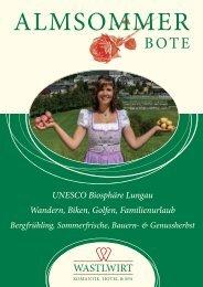UNESCO Biosphäre Lungau Wandern, Biken, Golfen ... - Wastlwirt