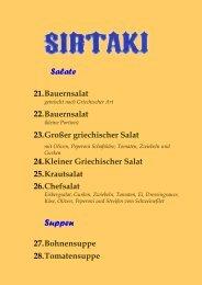 Restaurant SIRTAKI Griechische Spezialitäten in Weida | Speisekarte |