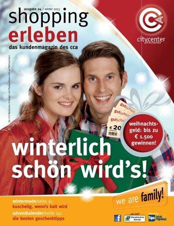 das kundenmagazin des cca weihnachts - City Center Amstetten