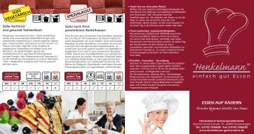 Download Informationsbroschüre - Henkelmann Gastronomie