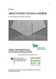 argentinien im soja-fieber - BUND Kreisgruppe Region Hannover