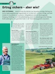 Fachartikel - Ertrag sichern – aber wie? (pdf / 408 KB) - UFA AG
