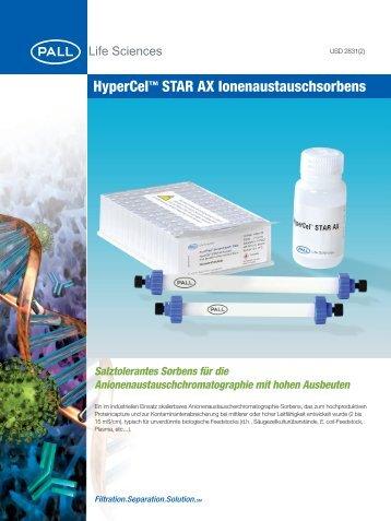 HyperCel™ STAR AX Ionenaustauschsorbens - Pall Corporation