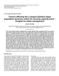 common hippopotamus population within the carrying capacity band