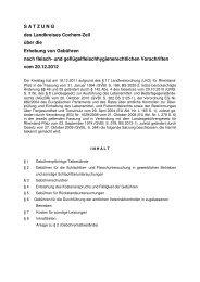 Satzung über die Erhebung von Gebühren nach fleisch - Landkreis ...
