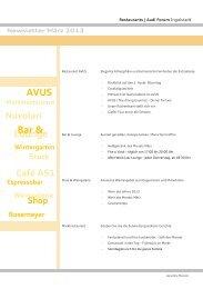 AVUS Lounge Bar & - Donaukurier