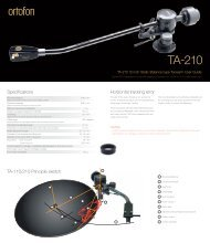 Download TA-210 User guide here - Ortofon