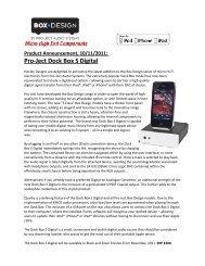 Pro-Ject Dock Box S Digital - Henley Designs Ltd.