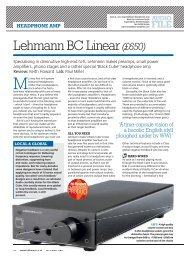 Lehmann BC Linear - Klank en beeld De Meyer