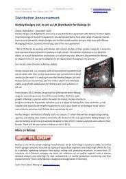 Henley Designs Ltd. to act as UK distributor for Reloop DJ
