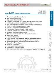 M2 Integrated Tech Info - Henley Designs Ltd.