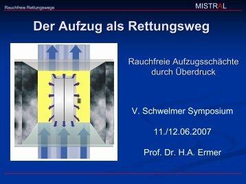 Der Aufzug als Rettungsweg - Henning GmbH