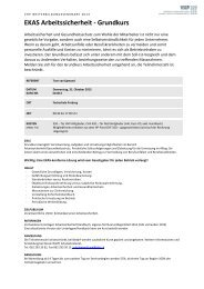 EKAS Arbeitssicherheit - Grundkurs - VHP