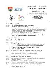 Download 2013 APSS Program - The University of Sydney