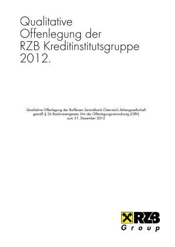 Qualitative Offenlegung der RZB Kreditinstitutsgruppe_DE 1212AC