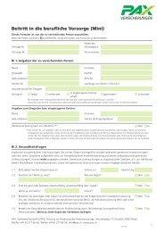 Beitritt in die berufliche Vorsorge (Mini) - Pax Schweizerische ...