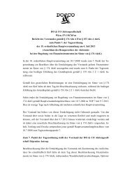 Bericht Vorstand zu TOP 7 - Do & Co