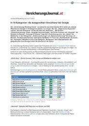 In 16 Kategorien: die bestgereihten Versicherer bei Google - D.A.S. ...