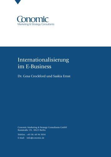 Internationalisierung im E-Busines - Conomic Marketing & Strategy ...