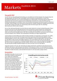 Markets Monthly für November 2013 - Sparkasse Bremen