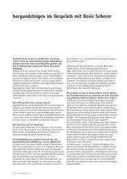 Interview - Bergundsteigen
