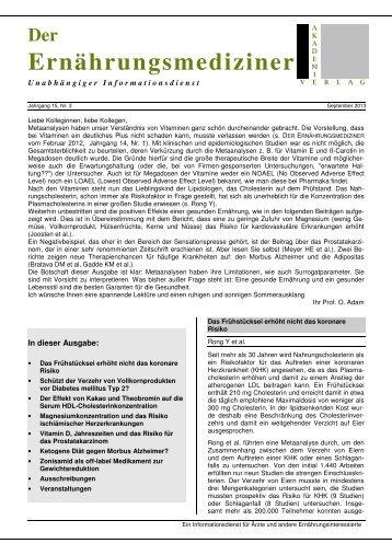 Heft 15/3 - Deutsche Akademie für Ernährungsmedizin e.V.