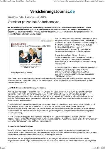 VersicherungsJournal Deutschland - Druckversion - Deutsches ...