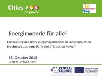 Energiewende für alle! - Dresdner Agenda 21