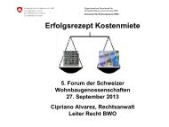 Atelier 7 Kostenmiete d - 5. Forum der Schweize ...