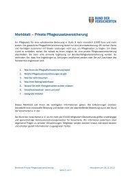 Merkblatt – Private Pflegezusatzversicherung - Bund der ...