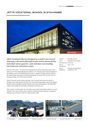 jåttå vocational school in stavanger - Henning Larsen Architects