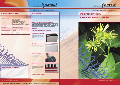 Prospekt Kapilární rohože - Hennlich