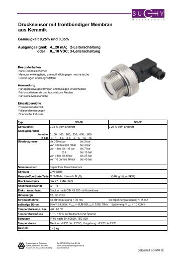Katalog Suchy Messtechnik 2007