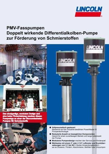 PMV-Fasspumpen Doppelt wirkende Differentialkolben-Pumpe zur ...