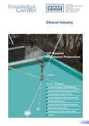 CIP Nozzles for Ethanol Production