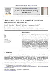 Sovereign debt disputes: A database on government coerciveness ...