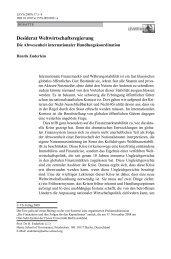 Desiderat Weltwirtschaftsregierung - Prof. Dr. Henrik Enderlein