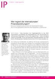 Wer regiert die internationalen Finanzbeziehungen?