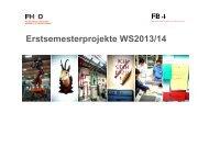 Erstsemesterprojekte WS2013/14